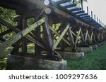 elevated railroad tracks... | Shutterstock . vector #1009297636