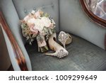 brides wedding shoes with a... | Shutterstock . vector #1009299649