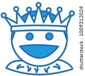 emoji with happy medieval king... | Shutterstock .eps vector #1009312024