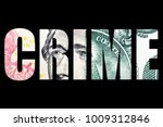 financial crime  money and... | Shutterstock . vector #1009312846