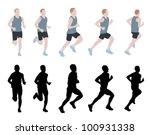 marathon runner | Shutterstock .eps vector #100931338
