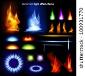 Vector Set  Light Effect  Flam...
