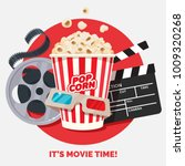 movie time vector illustration. ... | Shutterstock .eps vector #1009320268