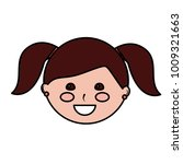happy girl with pigtails kid... | Shutterstock .eps vector #1009321663