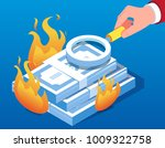 use a magnifying glass to check ...   Shutterstock .eps vector #1009322758