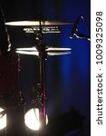 a drum set on a concert  | Shutterstock . vector #1009325098