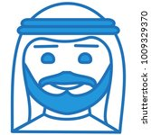 emoji with arab sheik or sheikh ... | Shutterstock .eps vector #1009329370