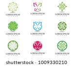 tree leaf vector logo design ... | Shutterstock .eps vector #1009330210