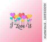 i love u design. simple.... | Shutterstock .eps vector #1009333054