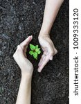 close up two hands holding... | Shutterstock . vector #1009333120