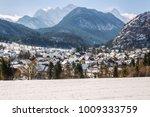 little village mojstrana below...   Shutterstock . vector #1009333759