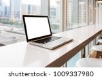 a workplace with notebook laptop | Shutterstock . vector #1009337980