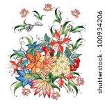 flower pattern | Shutterstock . vector #100934206
