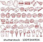 bakery  pastry icons set.... | Shutterstock .eps vector #1009344904