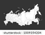 russia map with regions vector... | Shutterstock .eps vector #1009354204
