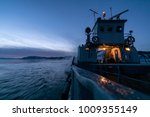 the ferry sails along lake... | Shutterstock . vector #1009355149