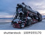 a steam locomotive  covered... | Shutterstock . vector #1009355170