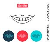 White Teeth Smile Icon. Health...