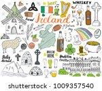 ireland sketch doodles. hand... | Shutterstock .eps vector #1009357540