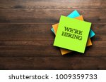 we're hiring  the phrase is... | Shutterstock . vector #1009359733