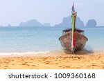 long tail boat near the beach... | Shutterstock . vector #1009360168