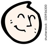 cartoon happy face | Shutterstock . vector #100936300
