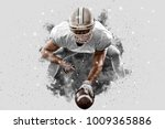 football player with a white... | Shutterstock . vector #1009365886