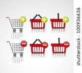 icons added to the shopping... | Shutterstock .eps vector #100936636