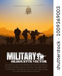 moving injured person  military ... | Shutterstock .eps vector #1009369003