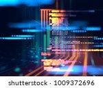 programming code abstract... | Shutterstock . vector #1009372696
