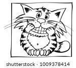 dentist  cat. smiley kitty.... | Shutterstock .eps vector #1009378414