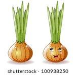 onions - stock vector