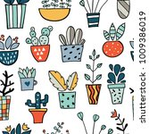 seamless pattern with colorful...   Shutterstock .eps vector #1009386019