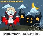 vampire for happy halloween...   Shutterstock . vector #1009391488