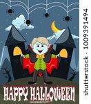 vampire for happy halloween...   Shutterstock . vector #1009391494