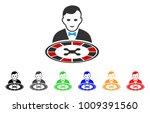 roulette dealer icon. vector... | Shutterstock .eps vector #1009391560