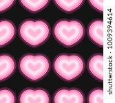 neon heart pattern vector  | Shutterstock .eps vector #1009394614