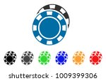 casino chips icon. vector... | Shutterstock .eps vector #1009399306