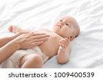 woman applying body cream on... | Shutterstock . vector #1009400539