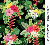 tropical seamless pattern with... | Shutterstock .eps vector #1009400740
