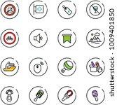 line vector icon set   no... | Shutterstock .eps vector #1009401850