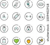line vector icon set   heart