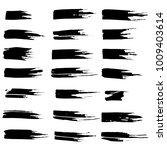 grunge ink brush strokes set.... | Shutterstock .eps vector #1009403614