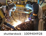 worker with protective mask... | Shutterstock . vector #1009404928