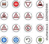 line vector icon set   sign... | Shutterstock .eps vector #1009405444