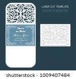 envelope for wedding invitation ... | Shutterstock .eps vector #1009407484