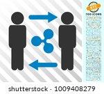persons exchange ripple... | Shutterstock .eps vector #1009408279