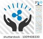 ripple prosperity hands... | Shutterstock .eps vector #1009408330