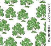 seamless pattern  green lilac... | Shutterstock .eps vector #1009413034