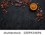 chocolate and cacao concept.... | Shutterstock . vector #1009414696